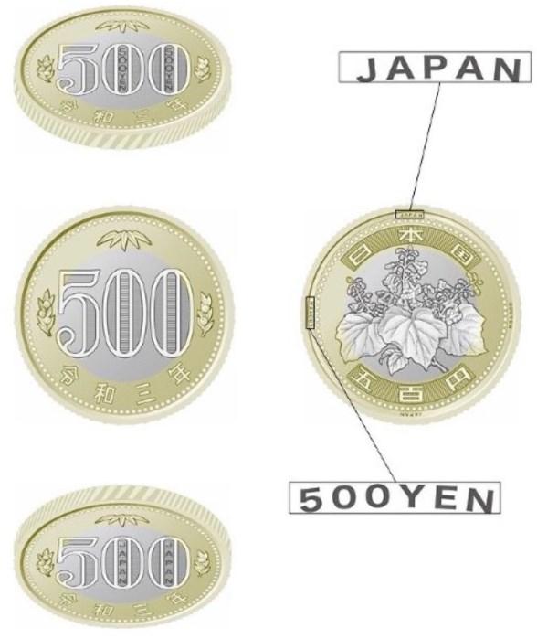 新500円玉は2色のバイカラーで斬新!ユーロに倣った偽造防止硬貨もあり!