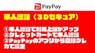 【これで安心】PayPay(ペイペイ)の『本人認証』方法を紹介する【3Dセキュア】
