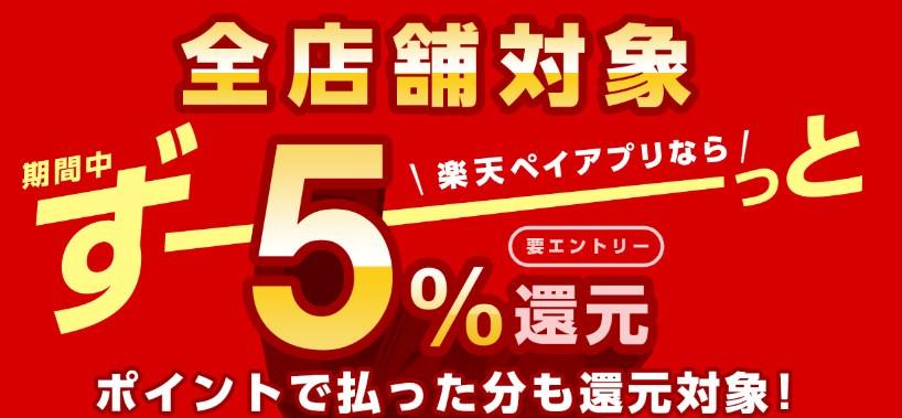 【基本還元率5%の驚異】楽天Payがお得すぎる!