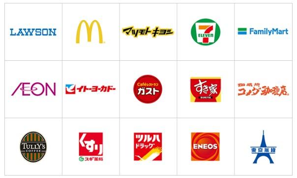 【iDのメリット①】使えるお店がとにかく多い!