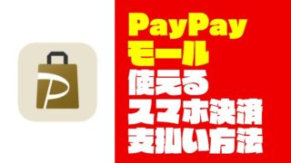 『PayPayモール』の支払い方法と使えるスマホ決済【キャッシュレス】